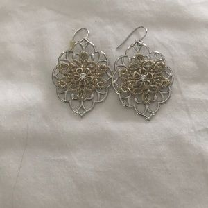 Jewelry - Silver with gold earrings